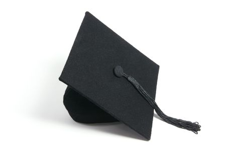 mortar board: Mortarboard on Isolated White Background