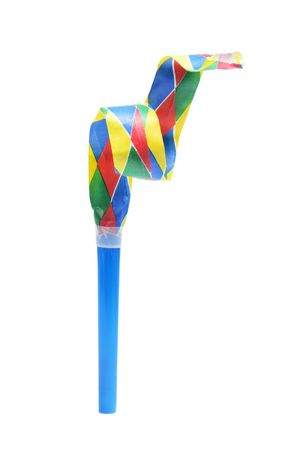 Party Blower on Isolated White Background photo