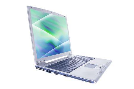Computer Laptop on Isolated White Background photo