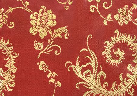 Chinese Red and Gold Textile Background photo