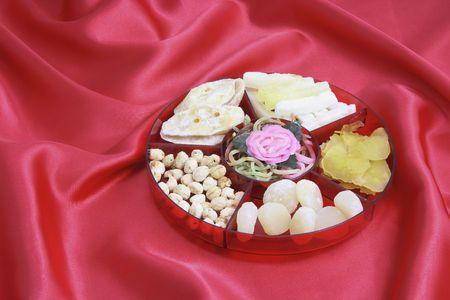 treats: Casella di vita di Capodanno cinese sul velluto rosso