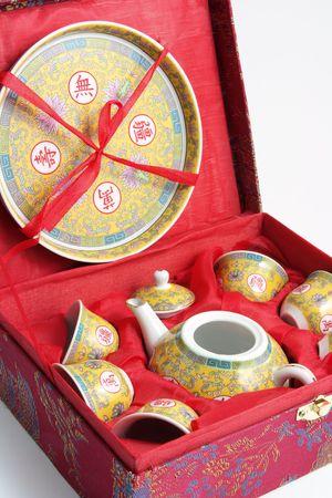 Close Up Of Chinese Tea Set photo