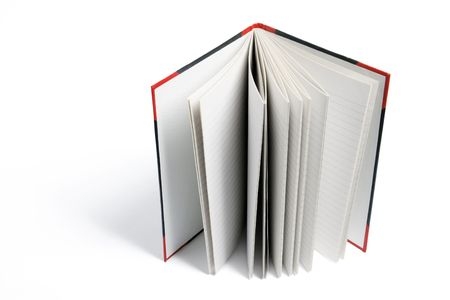 hard cover: Hard Cover Note Book on White Background