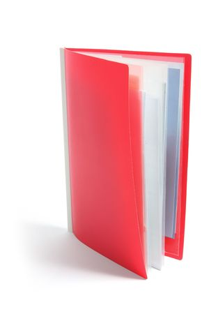 Plastic Clamp Folder on White Background photo
