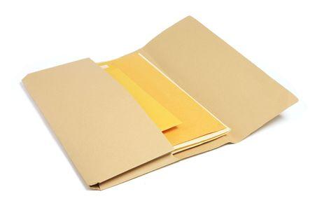 Document Folder on White Background photo