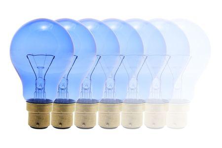 light bulbs: Light Bulbs sobre fondo blanco aislado  Foto de archivo