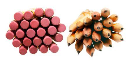 Bundles of Pencils on Isolated White  Background photo