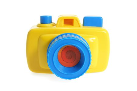 toy: Toy Camera on Isolated White Background