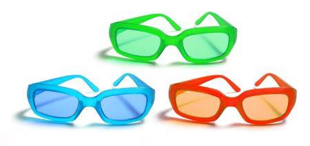 sunnies: Sunglasses on Isolated White Background
