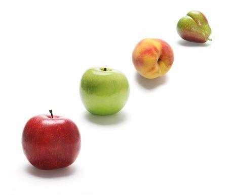 Fruits on Isolated White Background photo