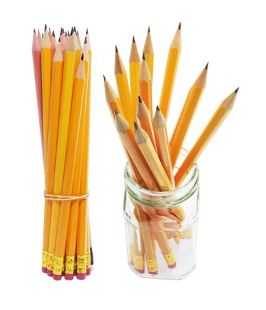 Pencils on White Background photo