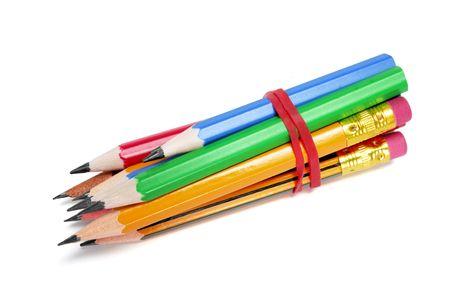 Bundle of Pencils on White Background Stock Photo - 6697701