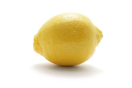 sourness: Lemon on Isolated White Background