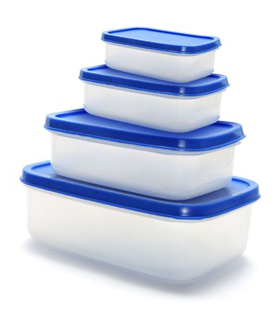 Plastic Containers on Isolated White Background Stock Photo - 6754239
