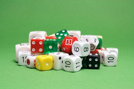 Dice on Green Background photo