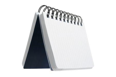 Spiral Notebook on White Background photo