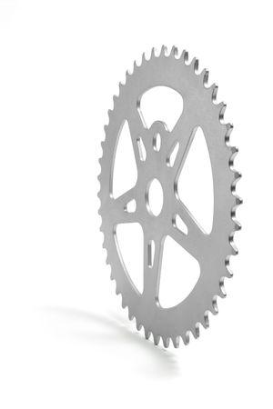 Gear Wheel on White Background photo