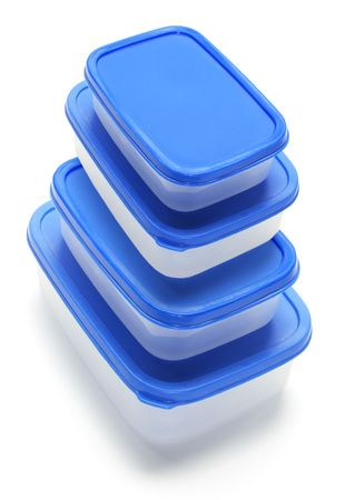 Plastic Containers on Isolated White Background Stock Photo - 6821512