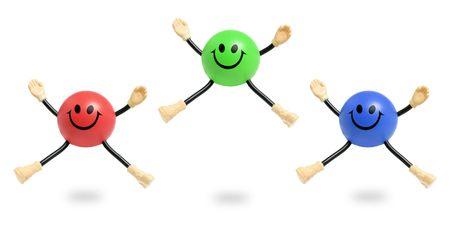 Smiley-Spielzeug auf weißem Hintergrund