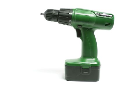 Electric Drill on Isolated White Background photo