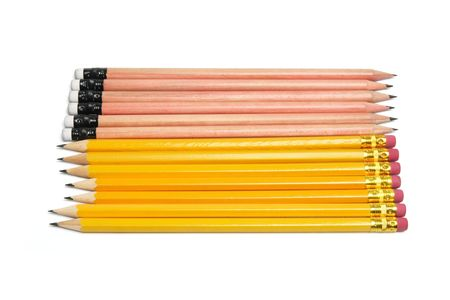 Row of Pencils on White Background Stock Photo - 6821504