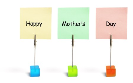 Mothers Day greetings on White Background photo