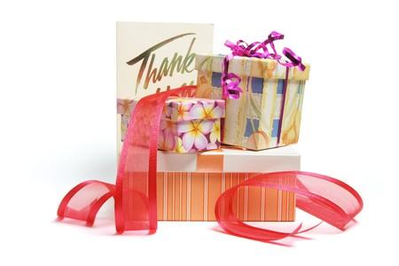 Gift Boxes on White Background photo
