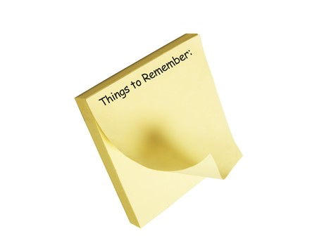 note pad: Post It Note Pad on White Background