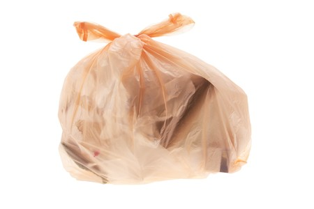 Bag of Garbage on White Background photo
