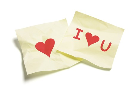 Love Notes on White Background photo