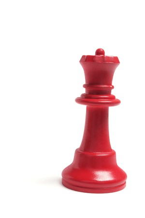 Red Queen Chess Piece on White Background photo