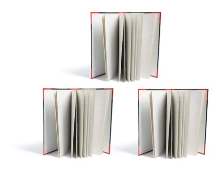 hard cover: Hard Cover Note Books on White Background Stock Photo