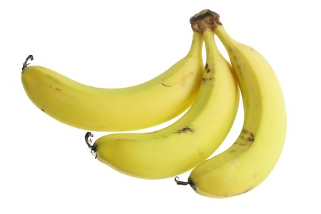 Bunch of Banana on White Background photo
