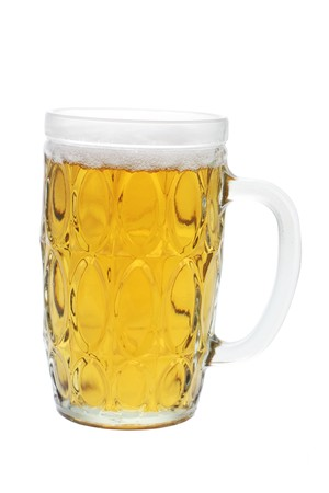 beerglass: Glass of Beer on White Background