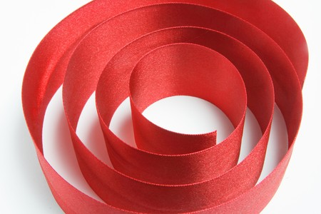 Gros plan du ruban rouge de cadeau  Banque d'images - 7114511