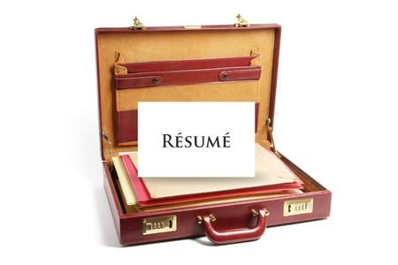 attache: File Folders in Briefcase on White Background Stock Photo