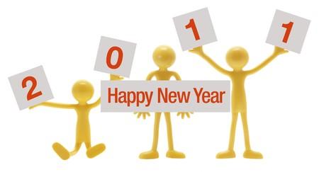 Happy New Year on White Background photo