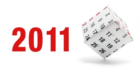 New Year and Calendar on White Background photo