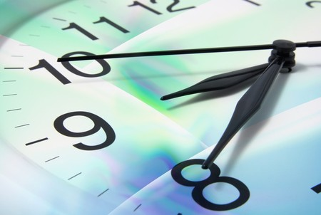 Clock Face with Digital Background Stock Photo - 7389443