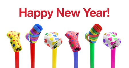 Happy New Year Concept on White Background photo