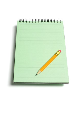note pad: Note Pad and Pencil on white Background