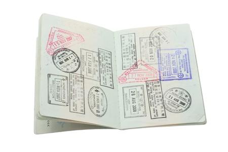 passeport: Passeport sur fond blanc isol�