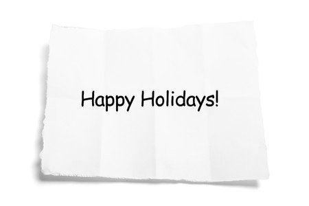 Paper with Message on White Background photo