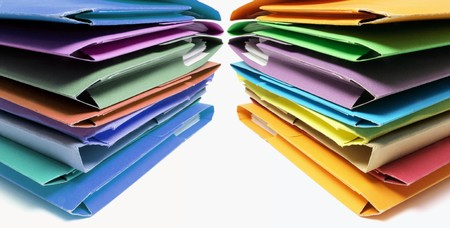 Stacks of Folders on Seamless Background Stock Photo - 7426038