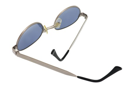 sunnies: Pair of Sunglasses on White Background