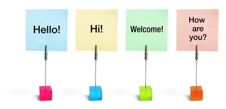 warm welcome: Memo Clip Holders on White Background