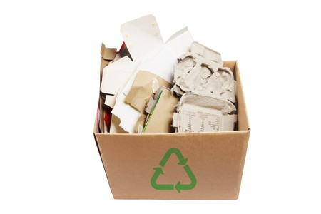 Paper Products for Recycle on White Background Stock Photo - 7522459