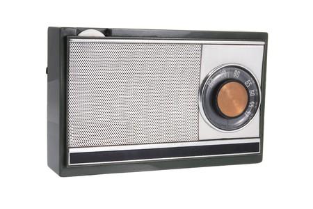 transistor: Radio transistor sur fond blanc  Banque d'images
