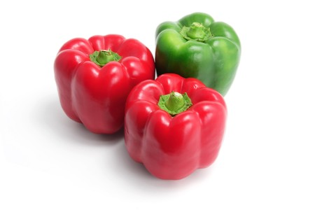 bell peppers: Bell Peppers on White Background