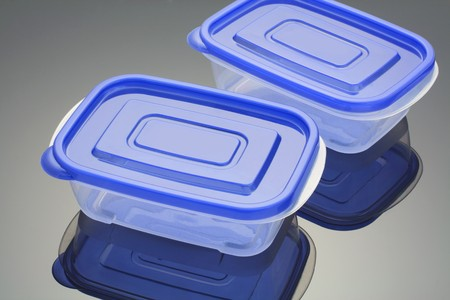 Plastic Boxes with Reflection photo